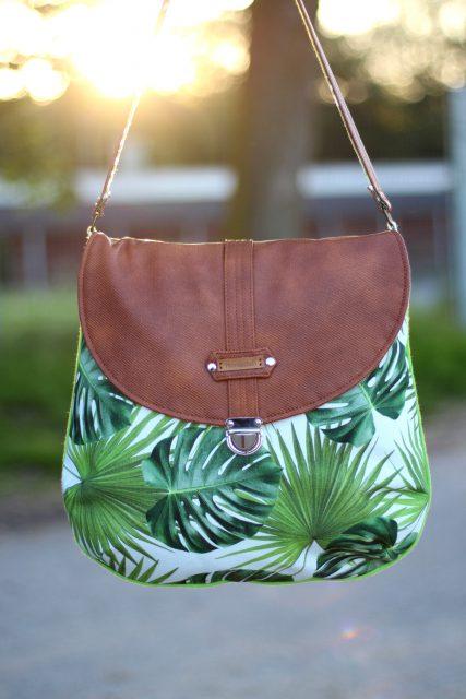 Mappenschloss Taschenverschluss Bohobag Bohania nähen Tasche Schnittmuster Hansedelli Sommertasche
