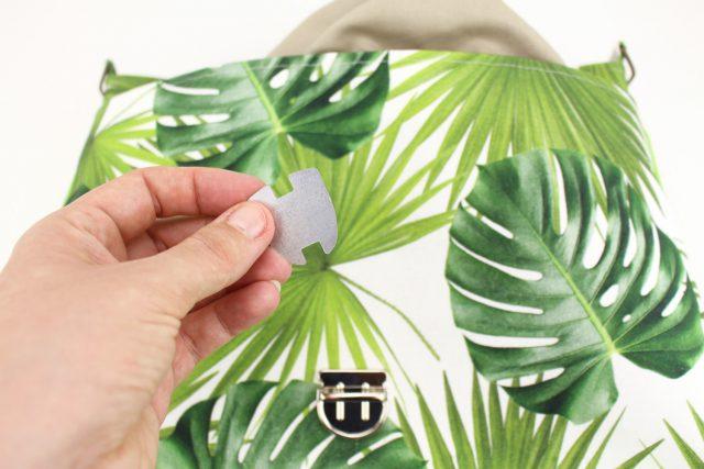 Mappenschloss befestigen Taschenverschluss Hansedelli Taschenzubehör verwenden Tasche nähen