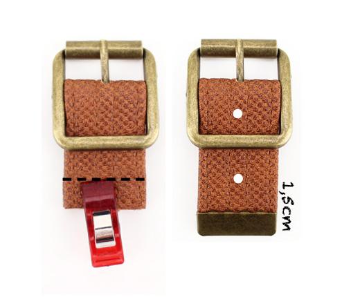Verschlusshalter selbermachen Tasche nähen Taschenverschluss befestigen Hansedelli