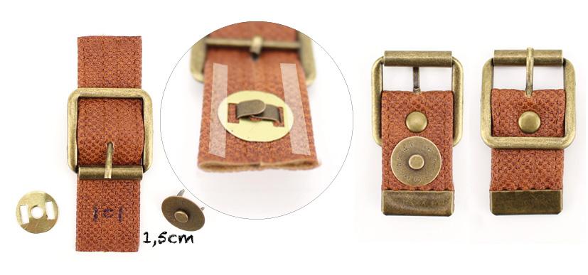 Verschlusshalter selbermachen Riemenverschluss Tutorial Taschenverschluss befestigen Hansedelli