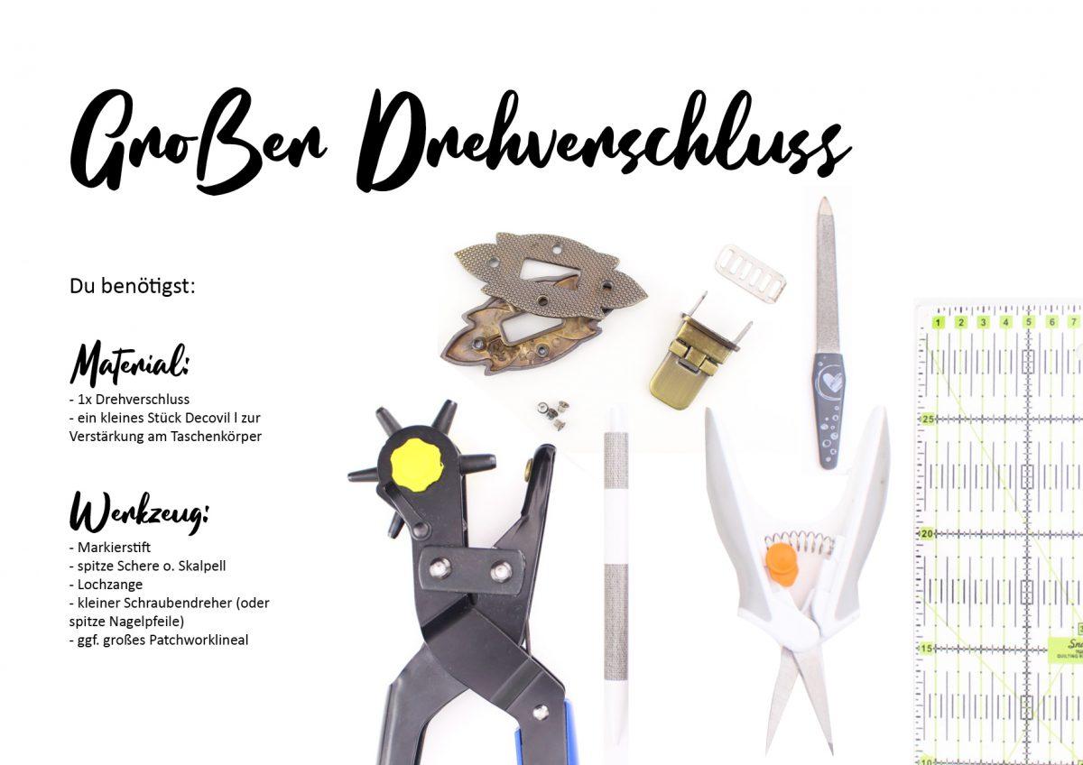 Drehverschluss Material und Werkzeug Hansedelli