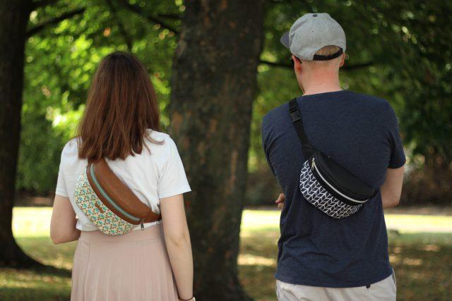 Bauchtasche Rikka für Mann und Frau nähen Hansedelli