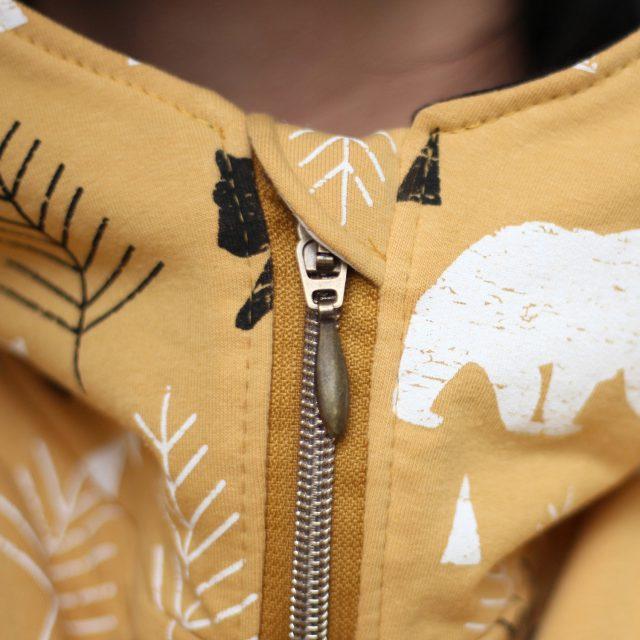 Hoodie Nanuk Reißverschluss einnähen Kinnschutz