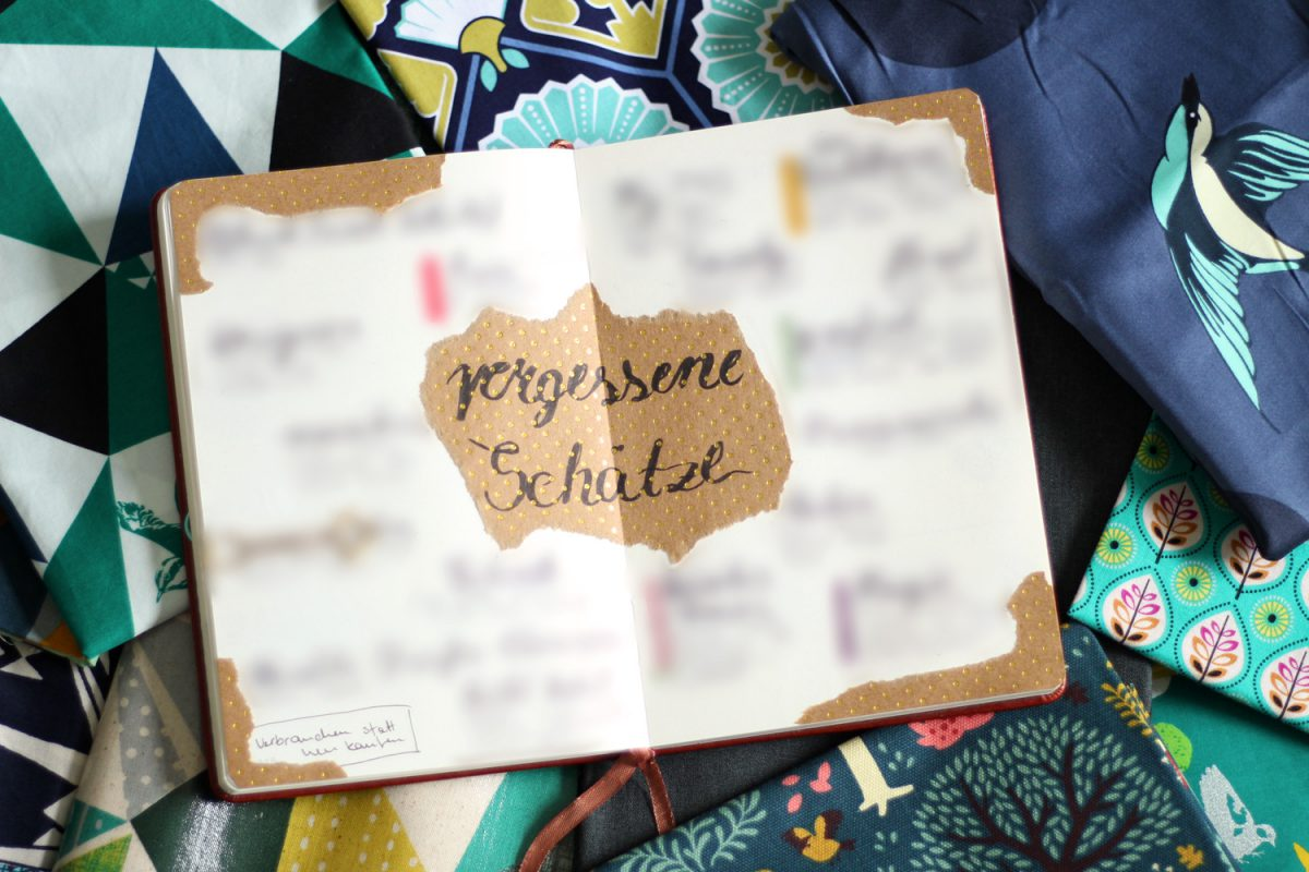 Vergessene Schätze Näh Challenge Bujo Bullet Journal Hansedelli
