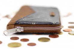 Detail Geldbörse umlaufender Reißverschluss japanische Stoffe Hansedelli