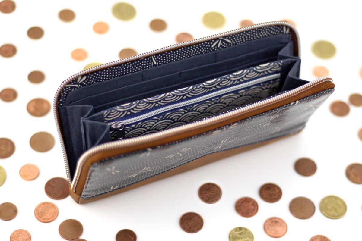 MYNTA Libellen japanische Stoffe Hansedelli Portemonnaie nähen