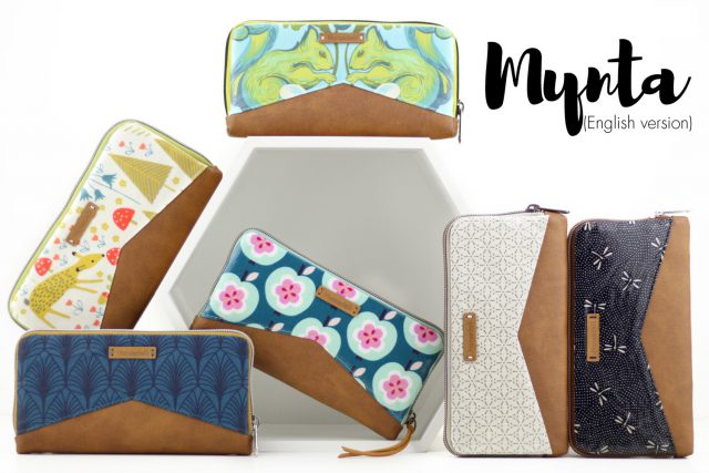 Mynta zip around wallet sewing instructions pattern hansedelli