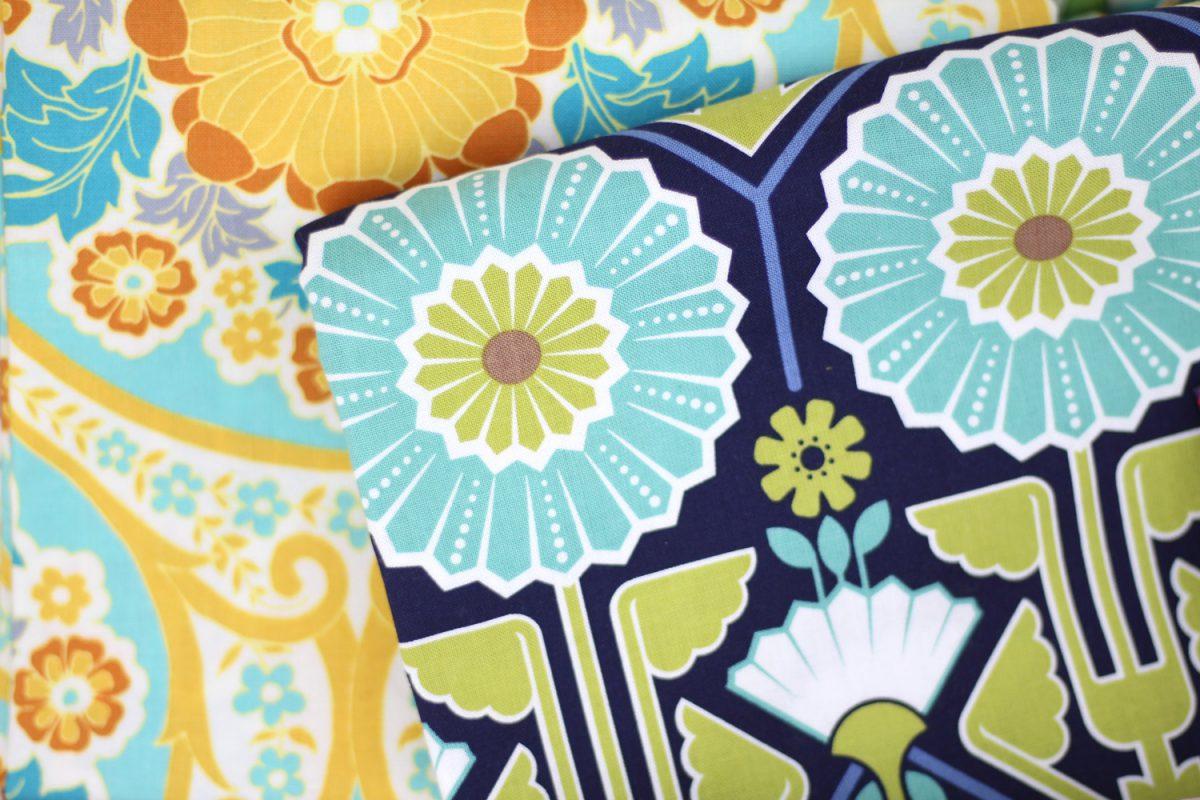 Stoffe Floral Ornamente Hansedelli Nähchallenge