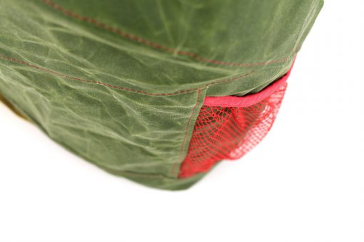 Outdoor Rucksack Roana AddOn Seitenfächer Netzfächer nähen kostenlose Anleitung Hansedelli Oilskin