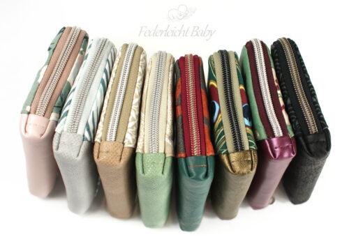 Reißverschluss einfassen Enden Portemonnaie nähen Geldbörse Schnittmuster Little Mynta Hansedelli