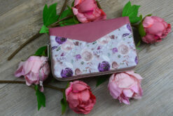Geldbörse Little Mynta Rosen Portemonnaie rosa Reißverschluss Hansedelli