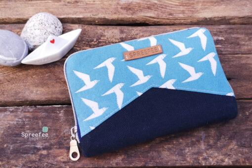 Cotton and Steel Portemonnaie mit umlaufendem Reißverschluss birds Hansedelli
