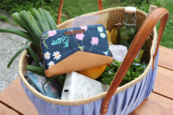 Geldbörse Markttasche Herzstück Blumen Portemonnaie nähen Hansedelli