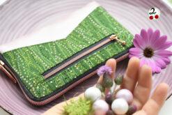 kleine Geldbörse Rückfach nähen Portemonnaie kupfer Reißverschluss rundherum Hansedelli