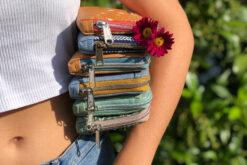 Geldbörse mit umlaufenden Reißverschluss nähen Portemonnaie Hansedelli Mynta