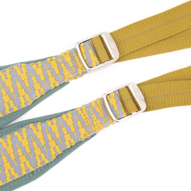 Rucksackträger selbernähen Gurtband Träger gelb mint Hansedelli