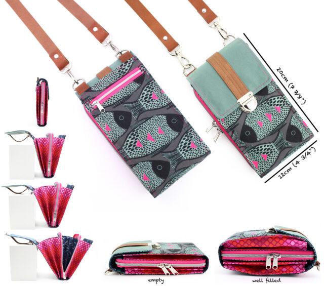 Bag Little Foksa Hansedelli pattern smartphone wallet sewing