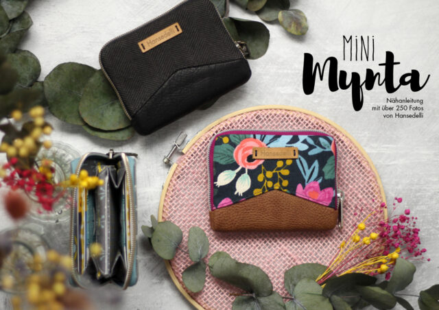Veröffentlichung Geldbörse Mini Mynta Hansedelli Mini Portemonnaie mit umlaufendem Reißverschluss nähen