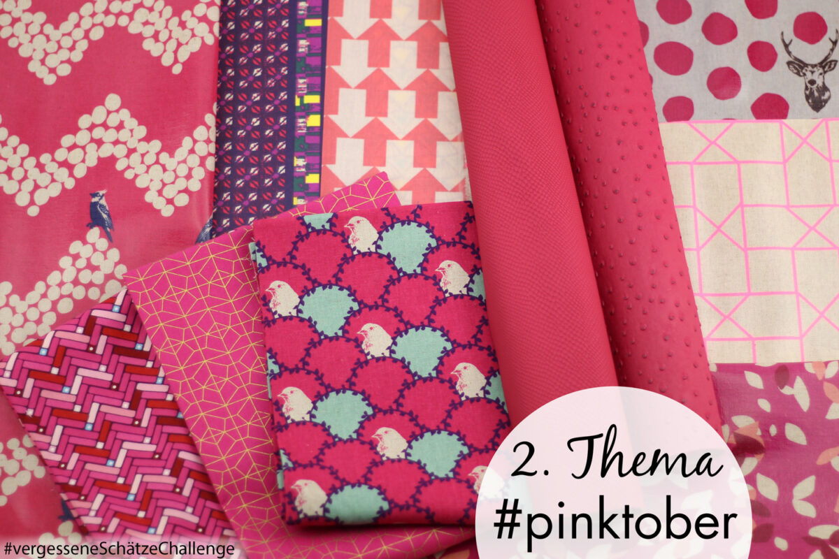 #pinktober Brustkrebsmonat pinke Stoffe nähen